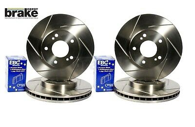 Ford Mondeo Front and Rear Sport Grooved Brake Discs with EBC Ultimax Pads 07-13