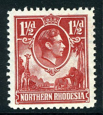 NORTHERN RHODESIA-1938-52 1½d Carmine Red.  An unmounted mint example Sg 29
