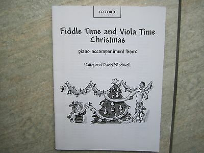 Fiddle Time and Viola Time Christmas PIANO ACCOMPANIMENT Book *NEW*