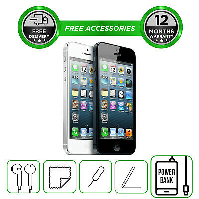 Apple iPhone 5 16GB 32GB 64GB Smartphone Unlocked All Colours