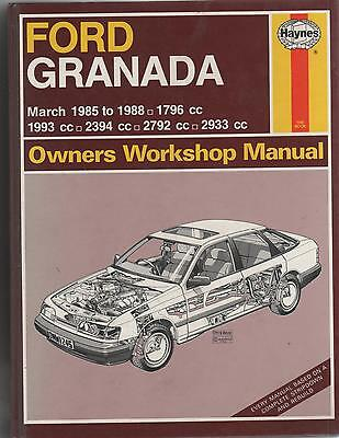 Ford Granada -1985 To 1988 -Owners Workshop Manual