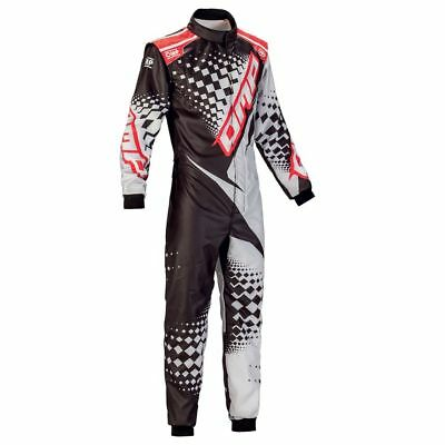 OMP KS-2R Kart Suit BLACK SILVER RED karting CHEAP DELIVERY NEW 2017