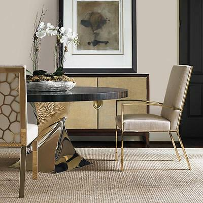 CLAIRE - 5pcs Modern Classic Brown & Gold Round Dining Room Table & Chairs Set