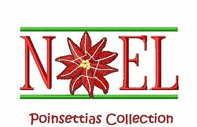 Poinsettias Collection - Machine Embroidery Designs On Cd