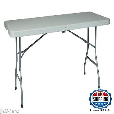 6ft Banquet Folding Table On Wheels Spacious Catering Seating Trade Show Display