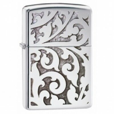 Zippo Filigree High Polish Chrome Windproof Lighter Brand New