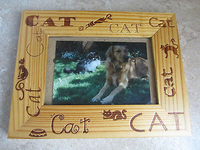 Wooden Cat Design Picture Frame