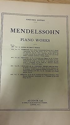 Mendelssohn: Capriccio For Piano: Music Score (H5)