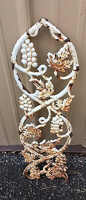 Architectural Salvage Cast Iron Grapes Leaves and Scrolls Piece