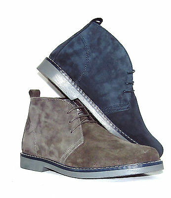 Polacchine scarpe BRUGER uomo in camoscio 100% MADE IN ITALY italian shoes