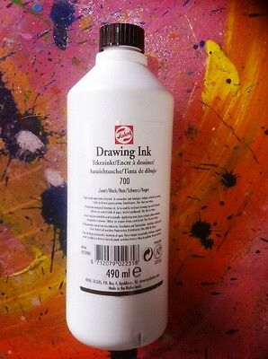 BLACK Drawing Ink 490ml - Talens