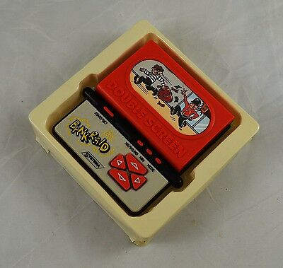 Rare Vintage Hand Held Electronic Game. Bank Raid Double Screen - Systema, Retro