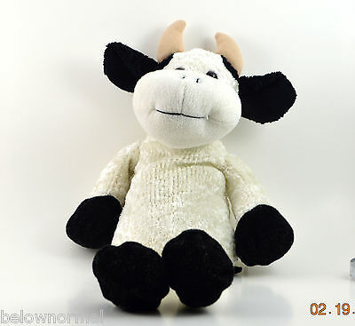 White Bull Plush Clean Soft Toy Network Stuffed Animal Moo Cow 2004  0212