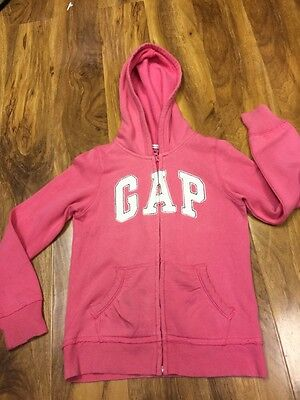 Gap kids Girls Pink Zipped Hoodie Size L (10-11 Years Old)