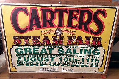 Vintage Retro Carters Steam Fair Fairground Advertising Art Sign Poster Board