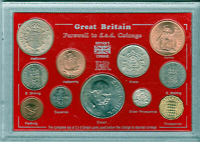 Great Britain Farewell to the £sd System Pre-Decimal Old Money 11 Coin Gift Set