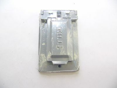 NEW! Thomas & Betts Steel City  WeatherProof  SINGLE Outlet Cover GREY (F196)