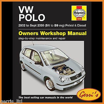 4608 Haynes VW Polo Petrol & Diesel (2002 to Sep 2009) 51 to 59  Service Manual