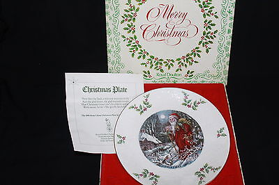 Royal Doulton Christmas 1980 Collectors Plate In Fitted Case