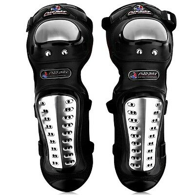 Stainless Steel Motorcycle Offroad Racing Elbow Knee Pads Armor Protective SFR