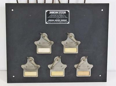 Antique~Steam~Locomotive~Johnson Control System Panel~Boiler Room~Valves~Scarce