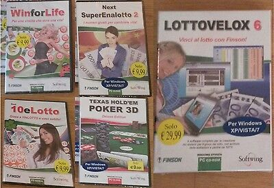 Software FINSON Lotto, superenalotto, winforlife, 10 e lotto, poker - SIGILLATI