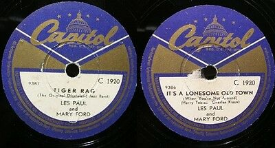 Les Paul + Mary Ford: TIGER RAG / IT'S LONESOME OLD TOWN