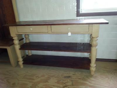 """Amish Built Reclaimed Barnwood Finished Sideboard/buffet Table W/2Drws - 62""""w"""
