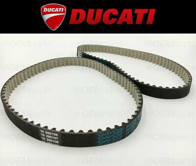 Set of (2) Reinforced Cam Timing Belts Ducati SPORTS TOURING ST2 944 1997-2003