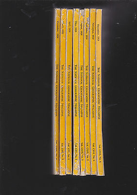 8 Volumes of National Geographic Magazine from 1958/1959