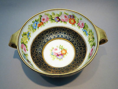 Stunning Nippon Large Console Centerpiece Bowl Early Noritake Morimura Brothers
