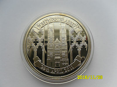 Silver Commemorative Westminster Abbey/william & Catherine Wedding Medal 2011