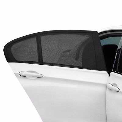2 Pack Car Window Sun Shade Breathable Mesh Screen Cover Sunshade Protector Auto