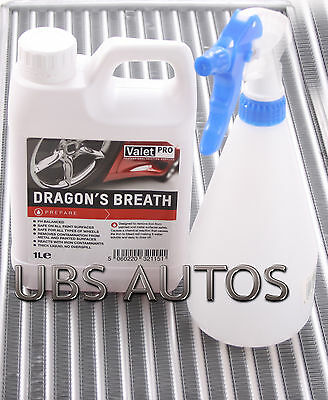 Valet Pro Dragons Breath Wheel Cleaner 1Litre Iron X Contaminant & Sparyer