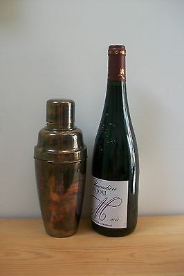 Vintage French Silver Plated Cocktail Shaker Marked Solar #69 Retro
