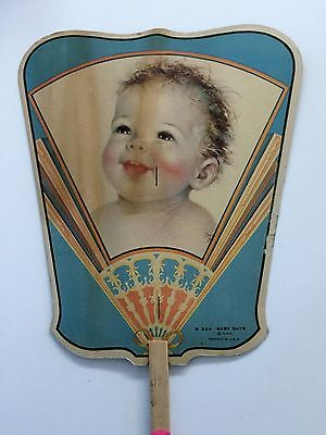 Vintage Hand Held Advertising Fan, K And J Amusements Pock Island, Ill...
