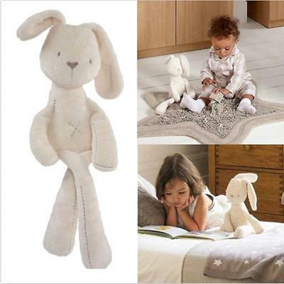 Beige Stuffed Bunny Rabbit Animal Doll Plush Soft Toy Kids Child Baby Gifts -6A
