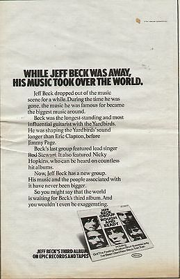 "1971 Jeff Beck Group ""rough & Ready"" Album Promo Ad"
