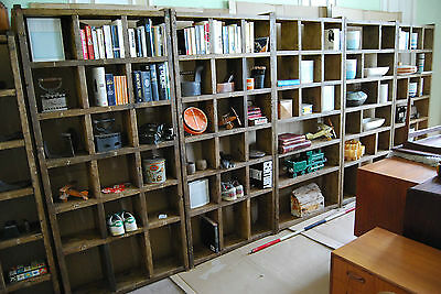 Pigeon holes industrial rustic bookcase x5 reclaimed wood FREE DELIVERY gplanera