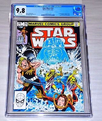 Star Wars 74 CGC 9.8 White Pages COOL Darth Vader Cover