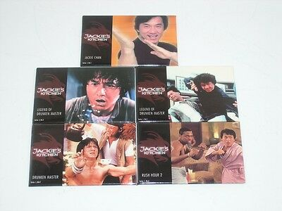 Jackie Chan Jackie's Kitchen restaurant movie picture magnets Collectible Set 5