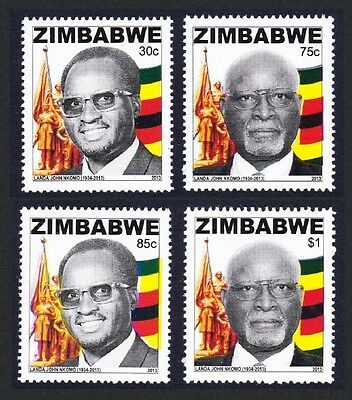 Zimbabwe National Heroes 4v issue 2013