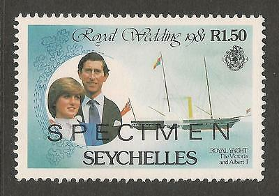 Seychelles Charles & Diana Royal Wedding Mnh Specimen Overprint
