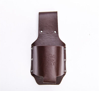 PU Or Genuine Leather classic beer holster espresso fits beverage can or bottle