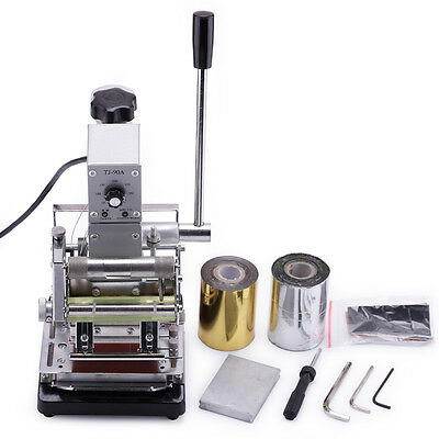 Manual Embosser Credit VIP Cards Hot Foil Stamping Machine With Foil Paper 300W