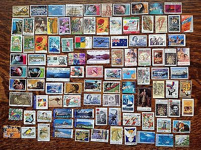 Collection Of Australia Stamps Off Paper Used