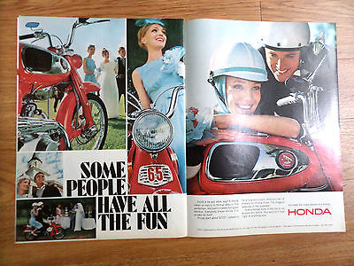 1966 Honda Motorcycle Ad Some People Have all the Fun