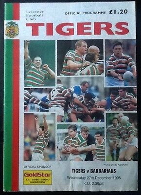 1995 LEICESTER v BARBARIANS programme