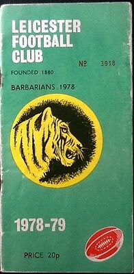 1978 LEICESTER v BARBARIANS programme