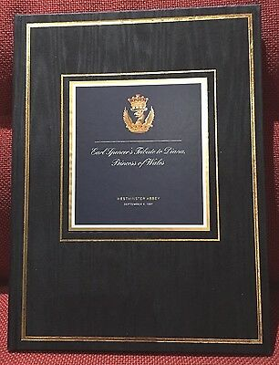 Earl Spencer's Tribute To Diana Princess Of Wales Signed